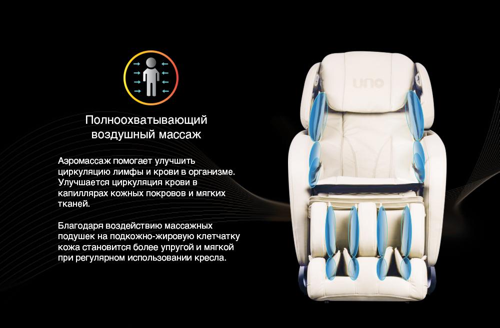 Массажное кресло UNO GRANDE Полноохватывающий воздушный массаж