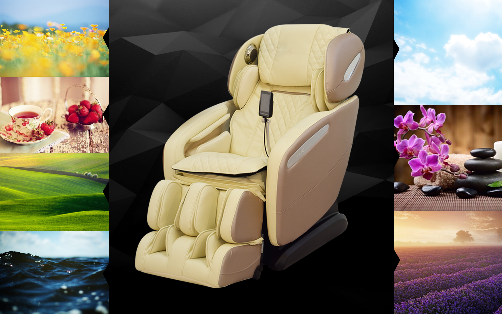 Массажное кресло UNO GRANDE Цветовая терапия
